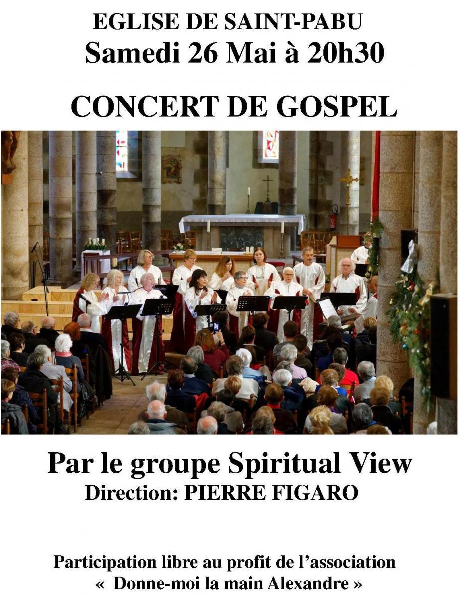 Concert De Gospel Organise Par ALOES Le Samedi 26 Mai A 20h30 Avec Groupe Spiritual View